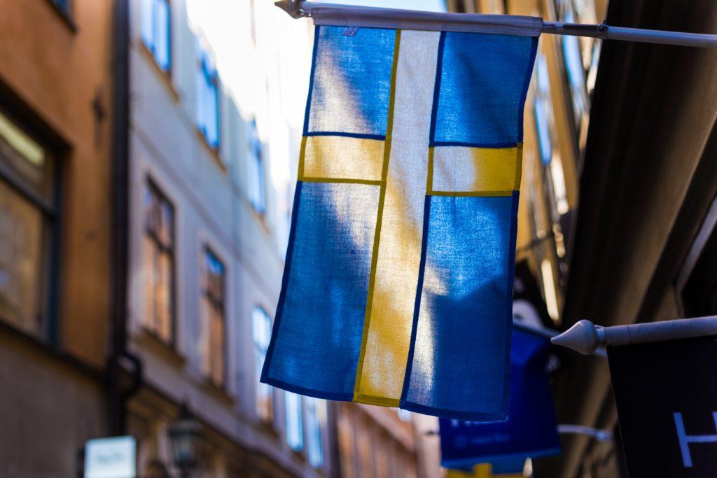 Draeau suédois dans une rue